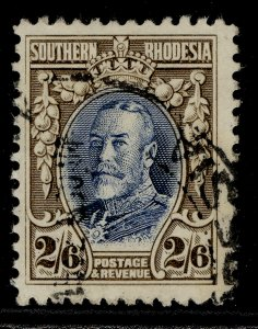 SOUTHERN RHODESIA GV SG26, 2s 6d blue & drab, FINE USED. Cat £35. PERF 12
