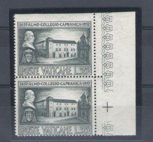 1957 Vatican - N° 225a Capranica 35 Lire Slate Non Serrated IN Alto IN C