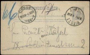 Austria Empire 10Kr Rohrpost Pneumatic Mail Postal Stationery Card G67642