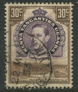 Kenya & Uganda - Scott 77 - KGVI Definitive -1952 - Used - Single 30c Stamp