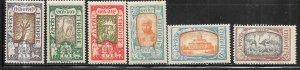 Ethopia #120-122,125-126,128  (M)  CV$1.75