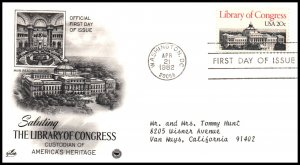 US 2004 Library of Congress PCS Artcraft Variety Typed FDC