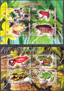 {g1201} Chad 2011 Frogs 2 sheets Used / CTO Cinderella