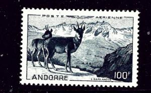 French Andorra C1 MNH 1950 issue