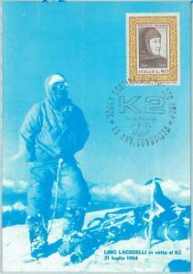 67828 - ITALY - POSTAL HISTORY -  POSTCARD: MOUNTAINEERING K2 1974