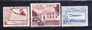 Peru C25, C34, C36 U Various