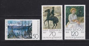 Germany 1283-1285 Set MNH Art, Paintings