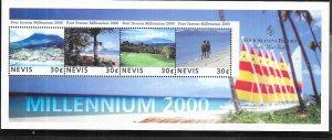 Nevis # 1181  Millennium 2000 Sheet of  4 (MNH) CV$0.90
