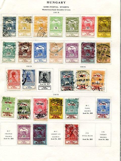 Hungary   Semi- Postal  collection  - Lakeshore Philatelics