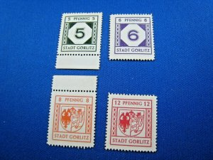 GERMAN STATES STAMPS - 1945 NIESKY - LOCAL ISSUE - WHITE PAPER    MNH