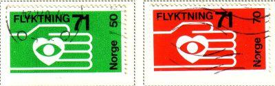 Norway Sc 572-3 1971 Refugees stamps used