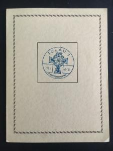 1941 Iglau Germany BM Commemorative Mothers Day Booklet Cover