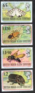 British Indian Ocean Territory Sc# 86-89 MNH 1976 Insects