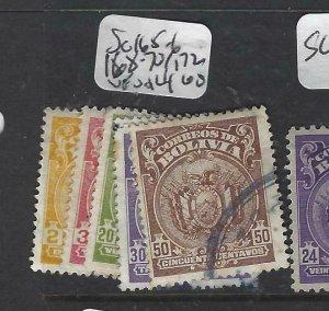 BOLIVIA  (P1706B)      SC 165-6, 168-70, 172  VFU