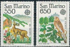 San Marino 1986 #1107-8 MNH. Europa