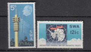 J25923 jlstamps 1971 south west africa set mnh #333-4