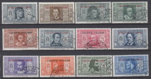 Italy Colonies General issues Dante Sassone n.11-22 used cv 215$