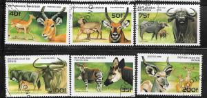 Benin #930-935 African Wildlife  (U) CV $4.25