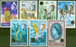 Turks & Caicos Is 1969 Wmk Sideways set of 7 SG298a-311a V.F MNH