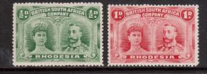 Rhodesia #101 - #102 VF Mint Fresh Duo