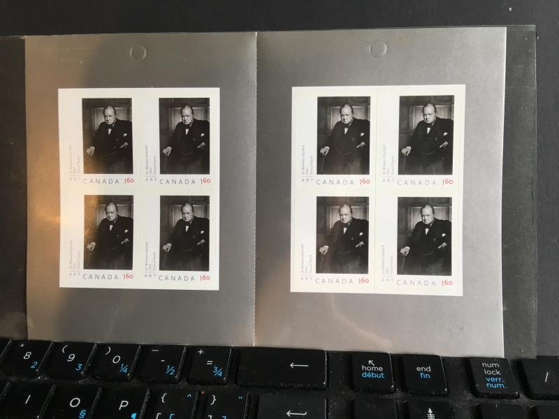 Canada #BK378 Churchill Booklet with Famous Karsh Photo - 8 X $1.60 Face $12.80