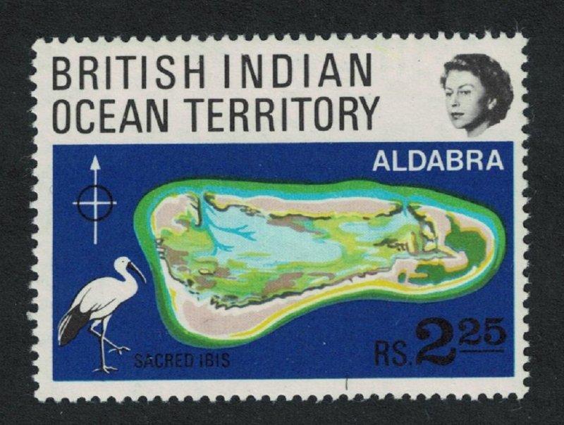 BIOT Sacred Ibis Bird Coral Atolls SG#31