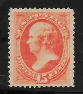 189 Unused 15c. Webster, VF-XF  scv: $200