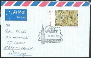 AUSTRALIA 1995 cover to Germany - nice franking - Sydney Pictorial pmk.....14707