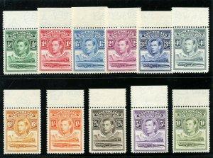 Basutoland 1938 KGVI set complete superb MNH. SG 18-28. Sc 18-28.