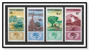 Rwanda #126-129 Cooperation Year Set MNH