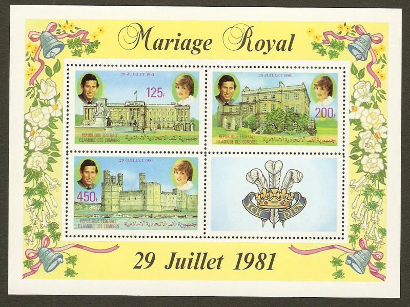 Comoro Islands #524a NH Royal Wedding SS