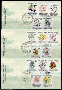 MARSHALL ISLANDS 2011 WILLIAM & KATE ROYAL WEDDING SET ON 3  FIRST DAY COVERS