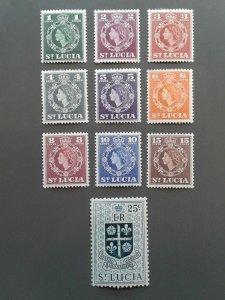 St. Lucia 157-166 F-VF MH. Scott $ 3.25