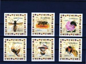 Guinea-Bissau 2001 Mi#1510/1515 Bees/Insects 6 Souvenir Sheets MNH