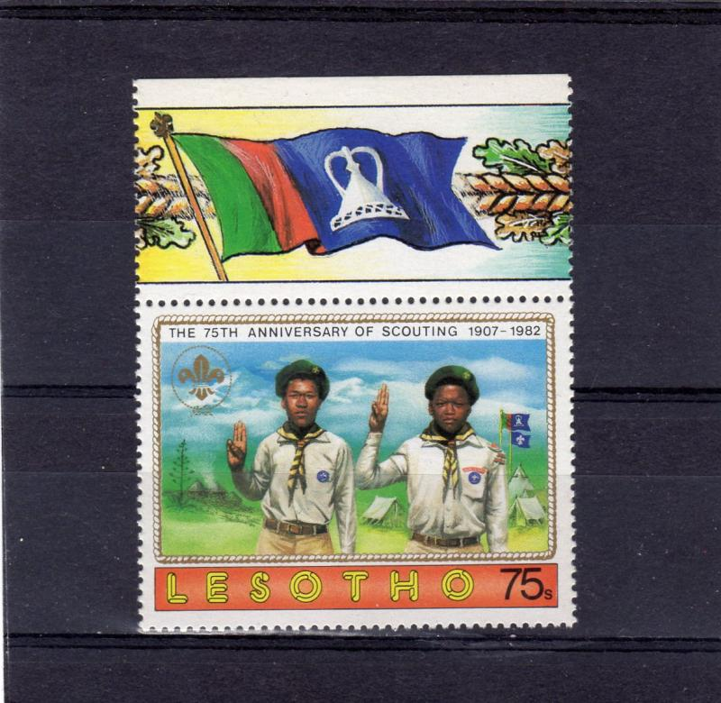 Lesotho 1982 Sc#361 Scouting Year Salute (1) MNH VF