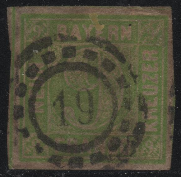 Bavaria 6 Numeral 19 Cancel
