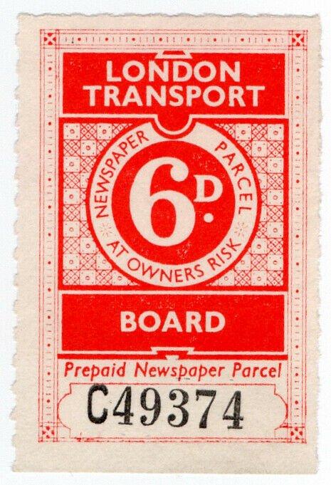 (I.B) London Transport Board : Railway Newspapers 6d