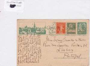 Japan to switzerland 1923 stamps cover Ref 8691