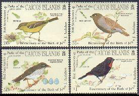 Caicos Islands SC# 1-7 MI 1-7,overprinte Definitive set,Fish