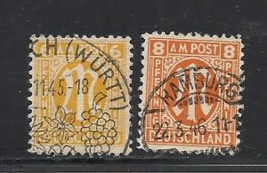 Germany #3N5-6 used Scott cv $30.90