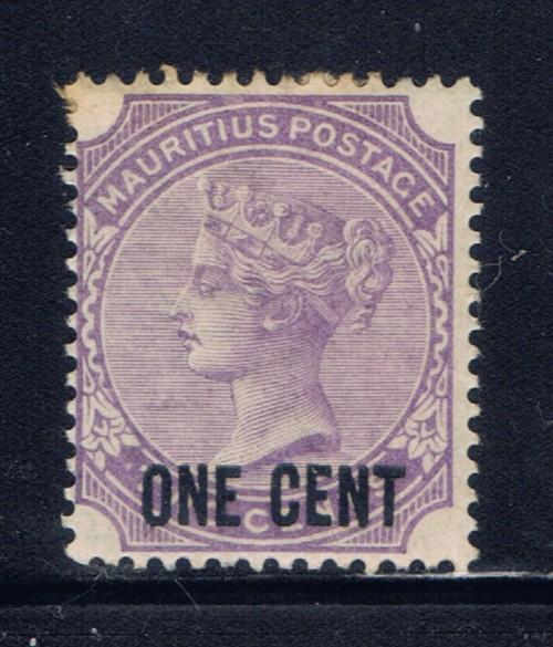 Mauritius 89 Lightly hinged 1893 surcharge issue