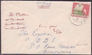 BASUTOLAND 1966 2½c on cover scarce type ROMA cds..........................35772