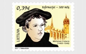 Lithuania 2017 MNH Stamps Scott 1092 Martin Luther 500 Years of Reformation