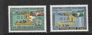 HAITI,B43-B44, MNH, INAUGURATION 22/-7-71
