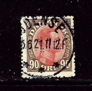 Denmark 127 Used 1920 issue few nibbed perfs
