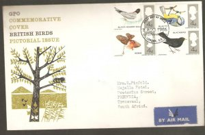 1966  BIRDS GPO FIRST DAY COVER  WITH  BUREAU CANCEL