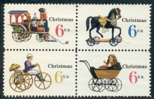 #1415-18 6¢ CHRISTMAS TOYS LOT OF 100 MINT STAMPS, SPICE UP YOUR MAILINGS!