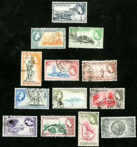 Barbados Stamps # 235-47 Used VF