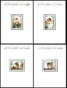 Algeria WWF Barbary Macaque 4 De-Luxes SG#989-992 SC#872-875 MI#972-975