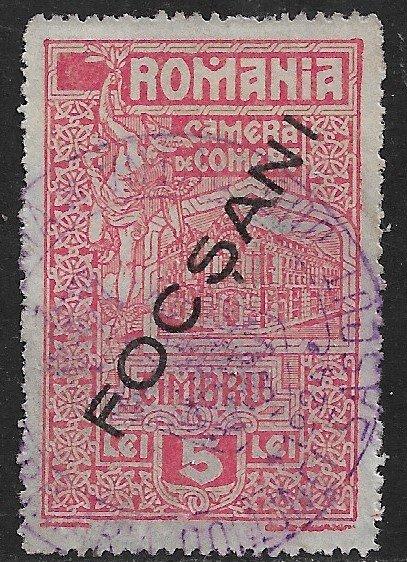 ROMANIA 1925 5L Chamber of Commece FOCSCANI REVENUE BFT.93e VFU